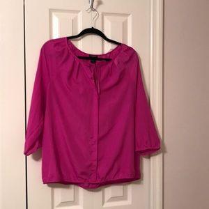 Ann Taylor fuchsia blouse